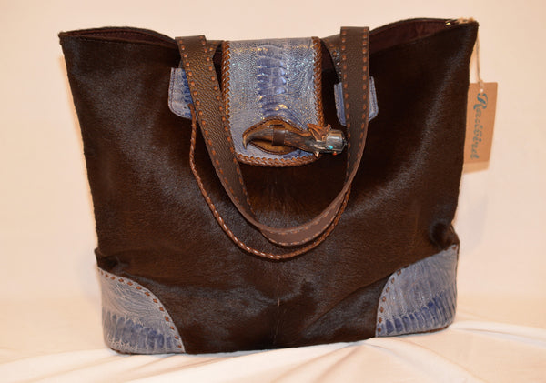 Divine Tribe Calf hair Tote