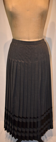 Celine grey Wool Skirt with Silk size 36