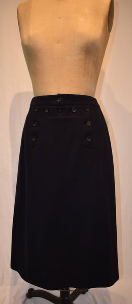 Celine navy Wool Skirt size 40