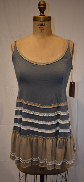 Alabama Chanin blue Tank Dress size Small