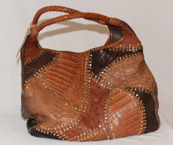 Carlos Falchi Exotic Leather Bag
