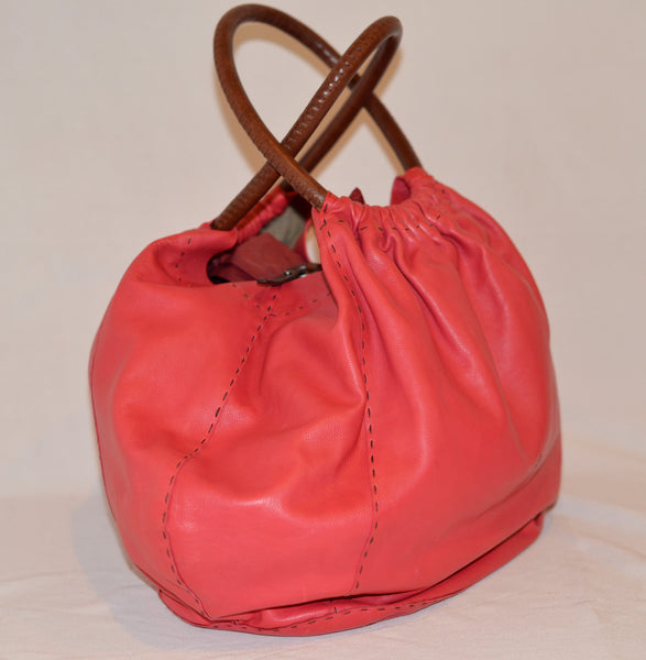 Henry Beguelin pink Leather Bag