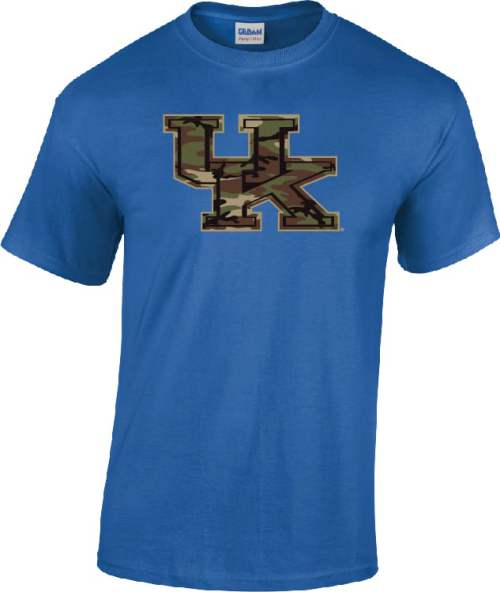 UK Camo Logo on Royal Blue