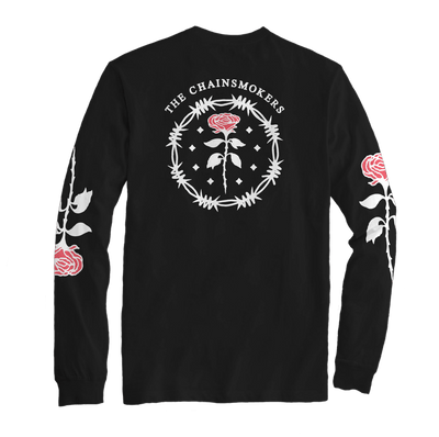 Roses Long Sleeve Tee - Black - The Chainsmokers
