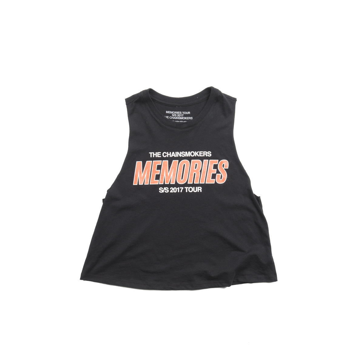 Memories Crop Tank (Black) - The Chainsmokers