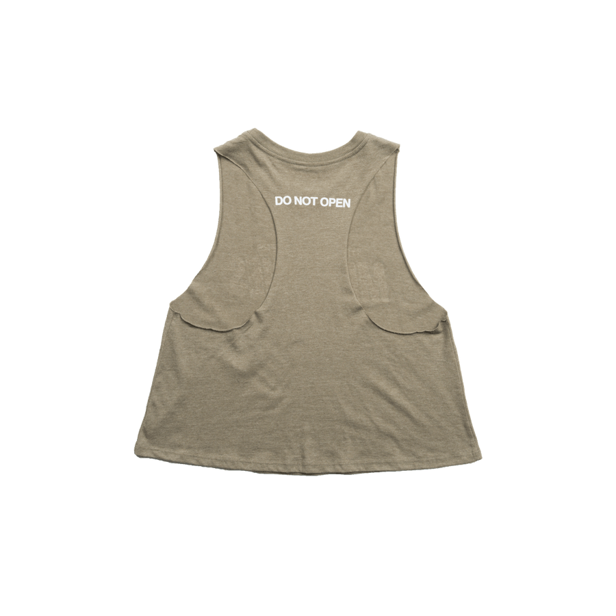 Memories Crop Tanktop (Olive) - The Chainsmokers