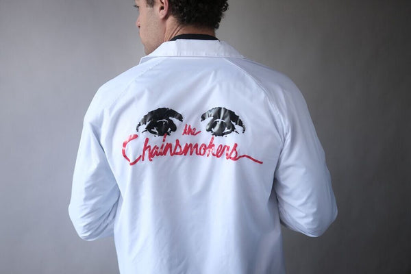 White Coaches Jacket - The Chainsmokers