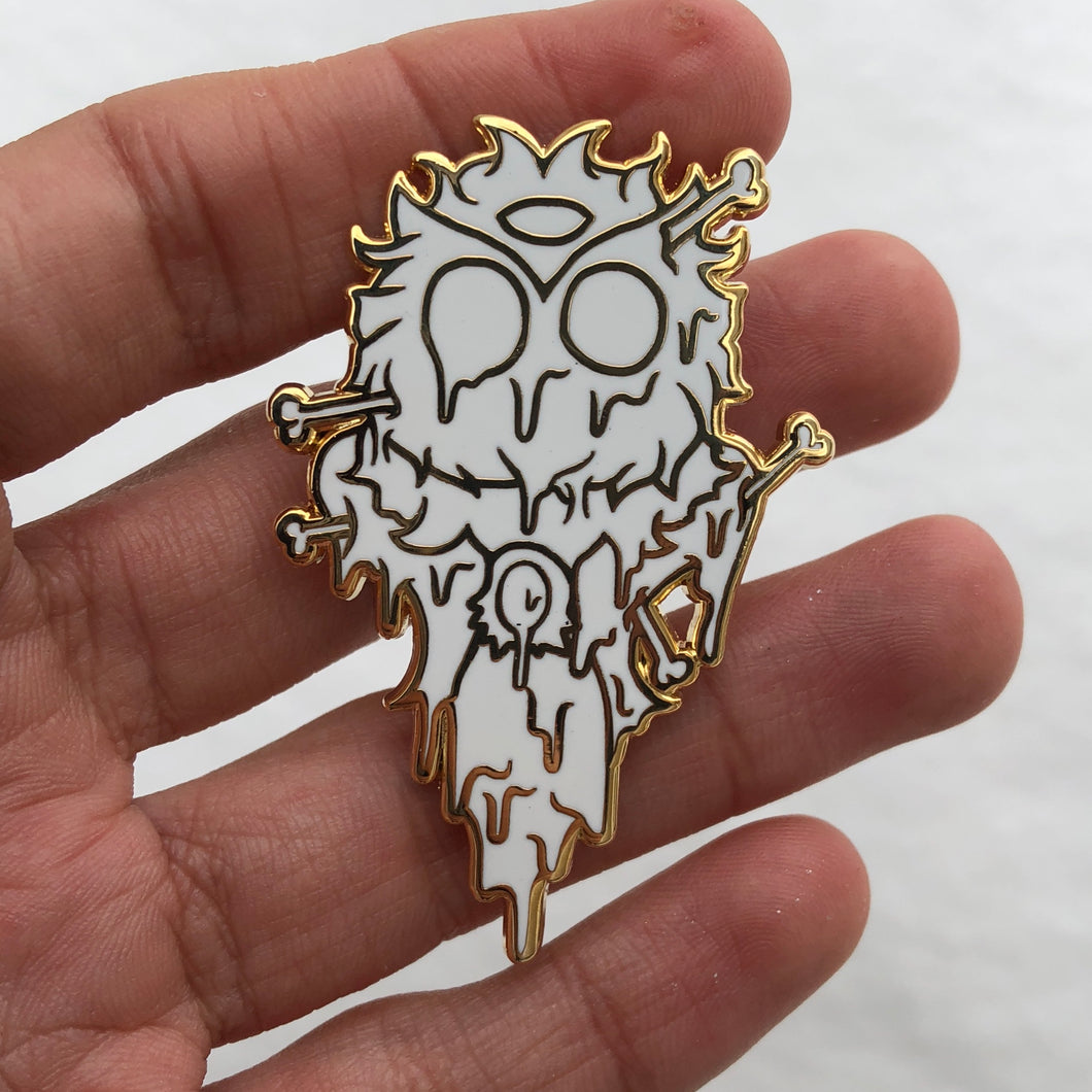 Blizzard Grime Owl Pin