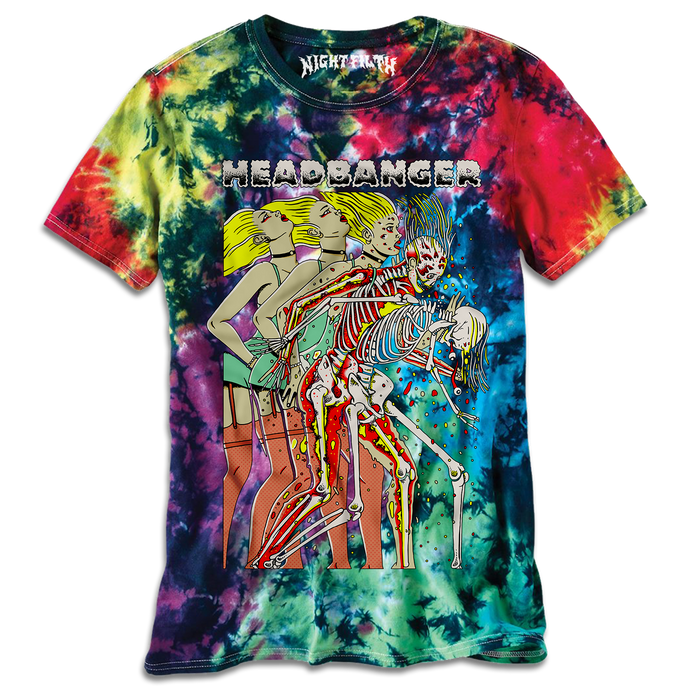 Tie Dye Headbanger Whiplash Graphic Shirt