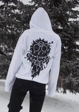 Grime Owl White Hoodie