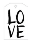 LOVE Black Tag