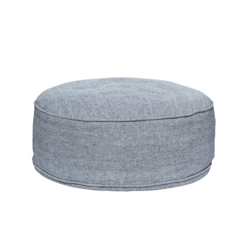 Woven Floor Ottoman - Light Grey