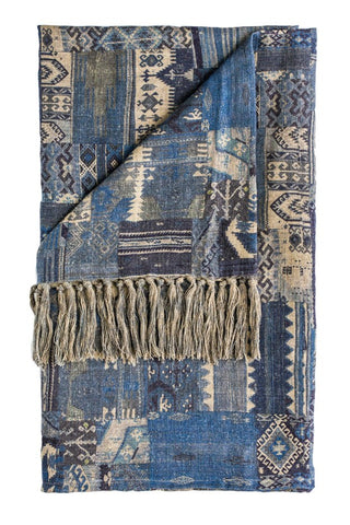 Kilim Throw Blue