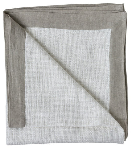 Slub Weave Throw White/Natural
