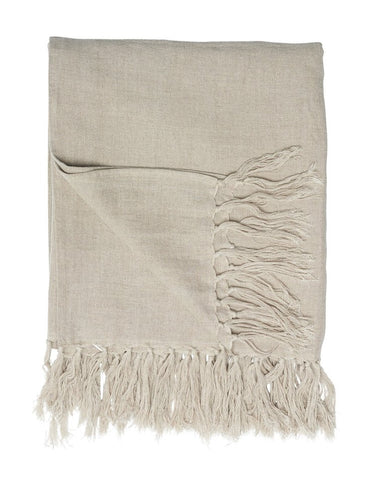 Luca Linen Throw Natural