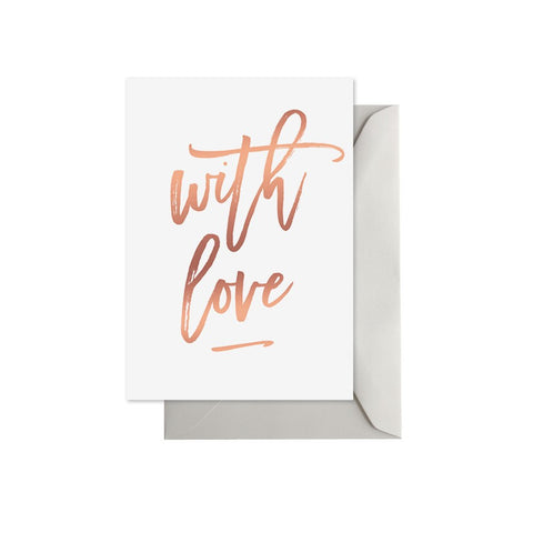 With Love Rose Gold Card