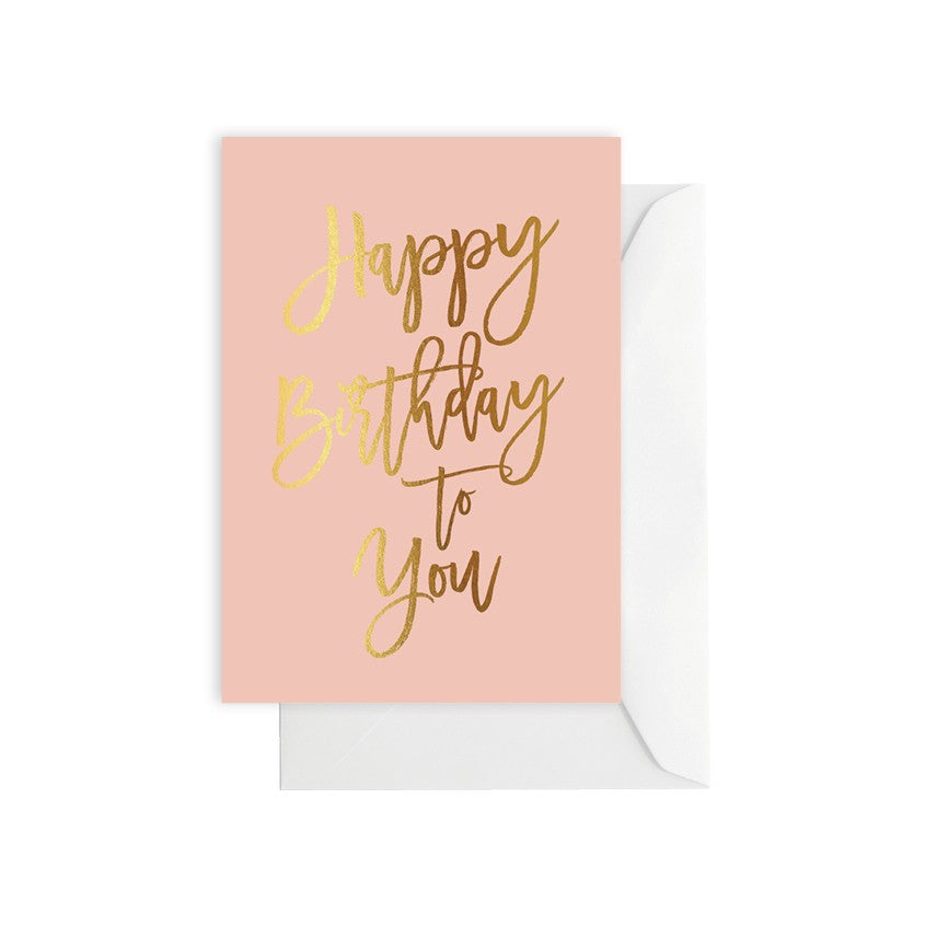 Happy Birthday Blush Card