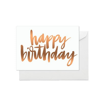 Happy Birthday Copper Card