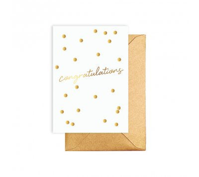 Gold Congratulations Card