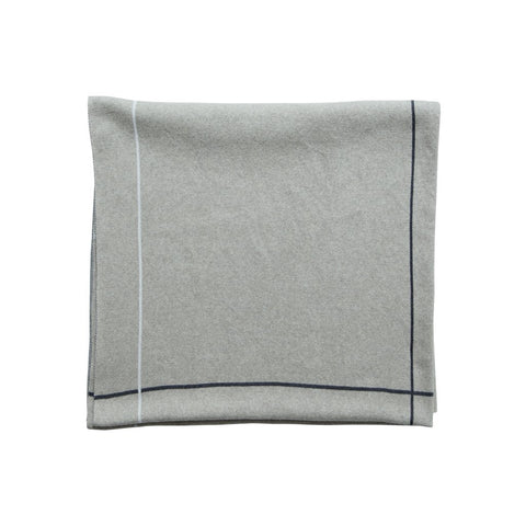 Charcoal/Stone Jacquard Throw