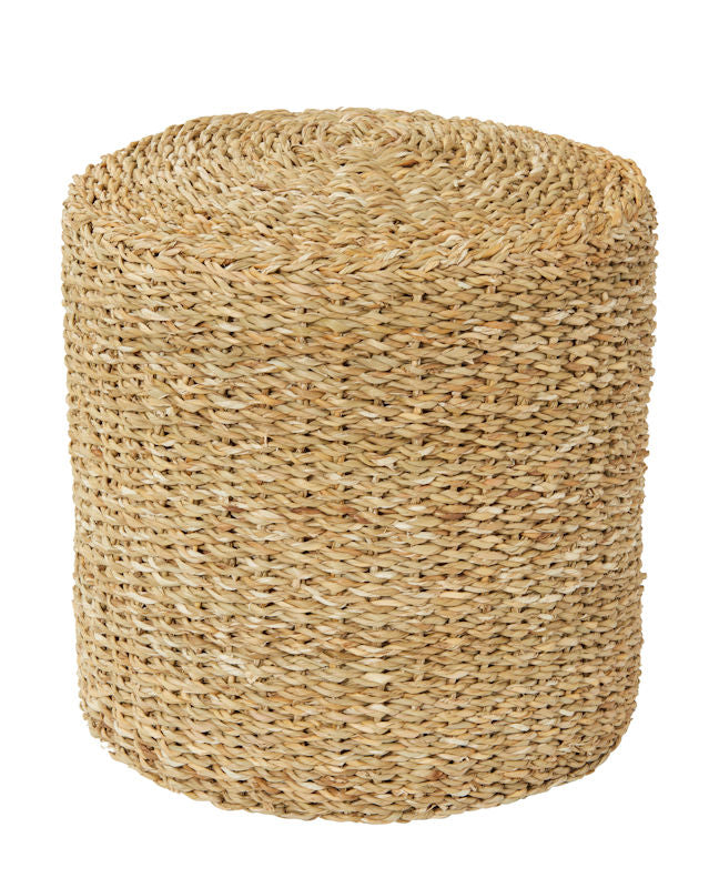 Natural Seagrass Side Table/Ottoman
