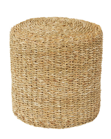 Natural Seagrass Side Table/Ottoman Small