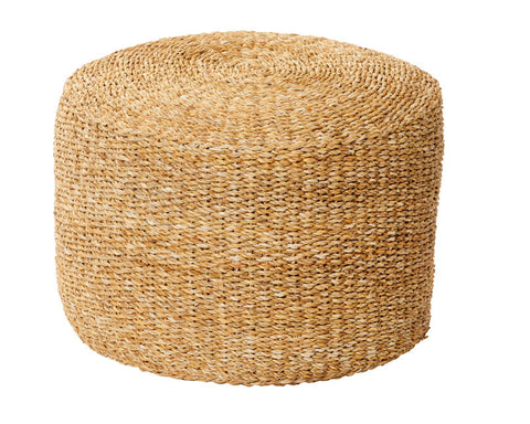 Natural Seagrass Side Table/Ottoman Large