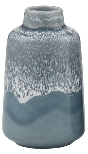 Bacari Smokey Grey Ceramic Vase