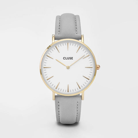 La Bohème Gold/White Grey Watch