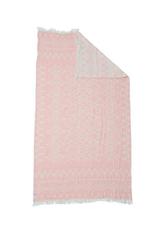 Knotty Oteki Kilim Maxi Throw Rose Quartz
