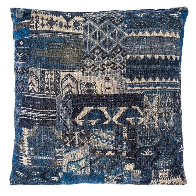 Kilim Cushion Blue Medium