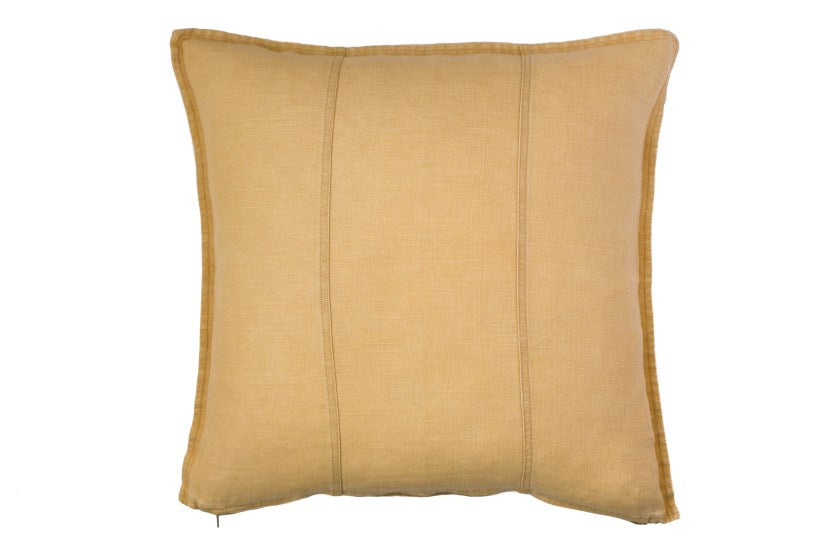 Luca Linen Cushion - Mustard