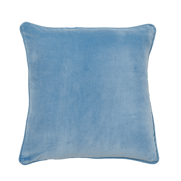 Lynette Velvet Cushion - Soft Blue