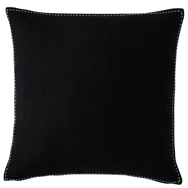 Stitch Cushion - Black