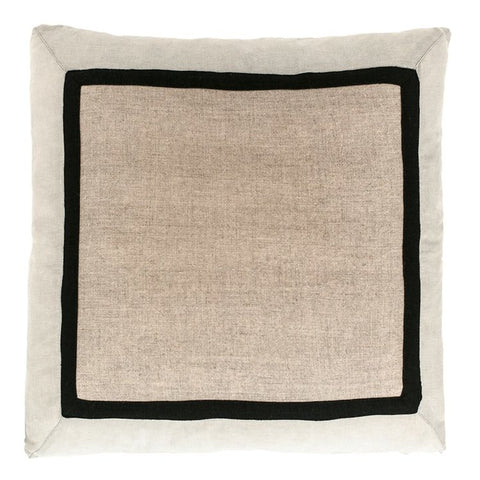 Villa Cushion Natural/Silver Grey/Black