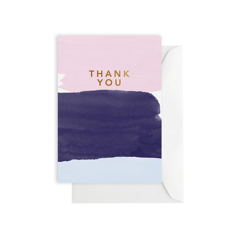 Watercolour Thank You Card