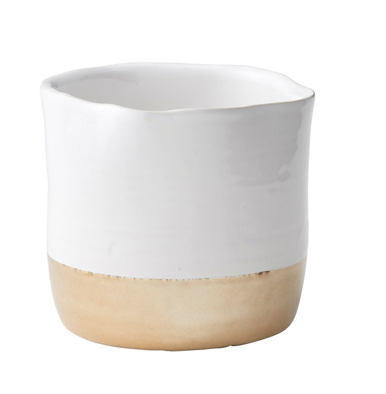 White/Gold Dipped Pot