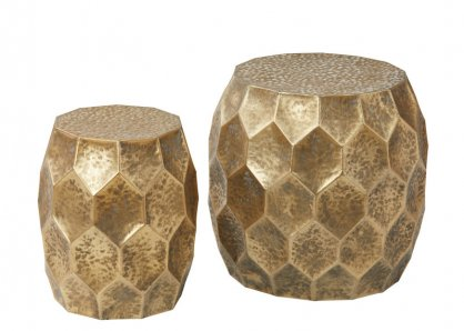 Luca Gold Antique Side Table