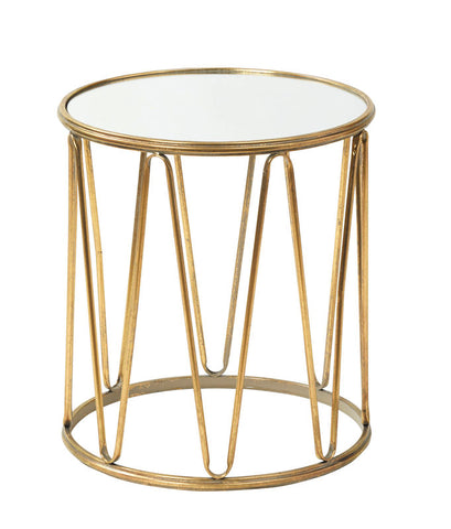 Lily Antique Gold Side Table