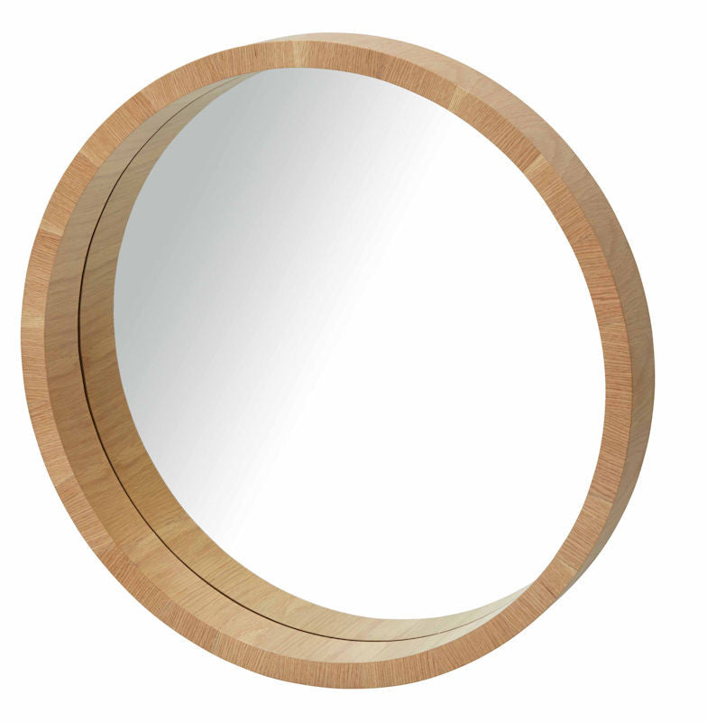 Paloma Round Timber Mirror