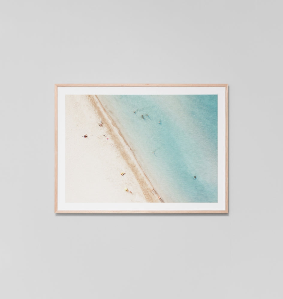 Beach Swim Framed Artwork