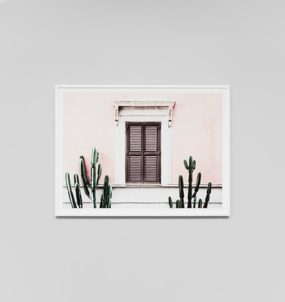 Blush Villa Framed Artwork