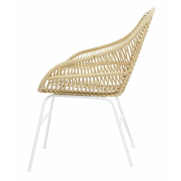 Tango Leaf Arm Chair - White/Natural