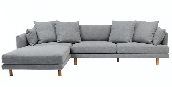 Vittoria Iris Left or Right Hand Chaise Sofa - Pavement