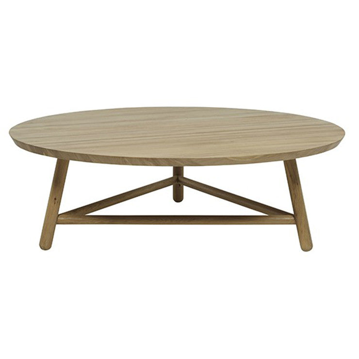 Linea Tri Base Coffee Table - Natural Oak