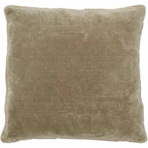 Lynette Velvet Cushion - Natural