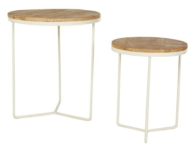 Flinders Round Side Tables - White