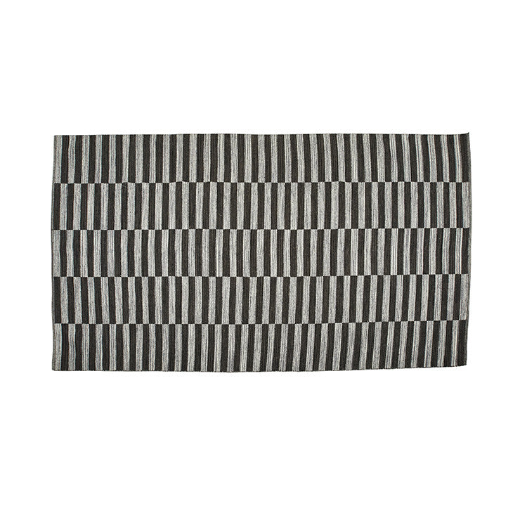 Barnet Stripe Rug - Black