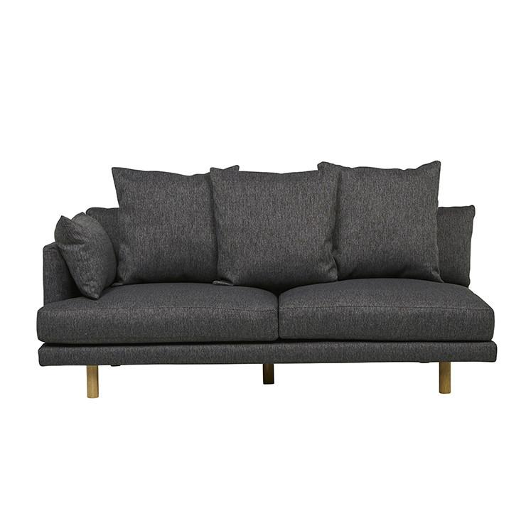 Vittoria Iris Left or Right Hand Chaise Sofa - Quarry Grey