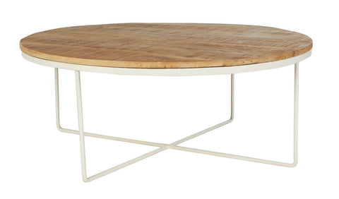 Flinders Round Coffee Table - White